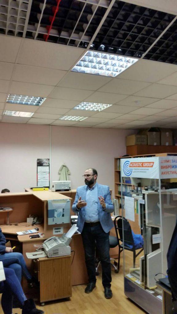 Презентация звукоизоляционных и акустических материалов в компании MCF-ENGROS