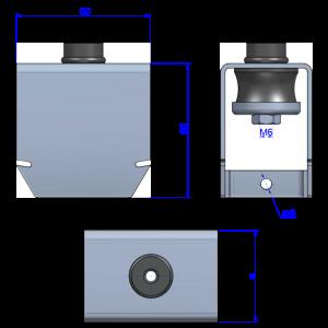 Потолочный виброподвес Akustik Rapid T60 B60